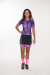 Macaquinho - Sorria Tem Uma Mulher Ultrapassando - Manga Curta - Macaquinho de Ciclismo