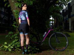 Macaquinho - Caveira Esfumado -Manga Curta - Macaquinho de Ciclismo