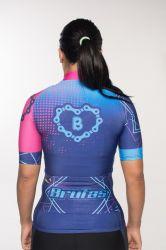 Camisa - Azul Eletrônico - Manga Curta - Camisa de Ciclismo