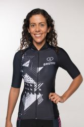 Camisa -Black  White -Manga Curta - Camisa de Ciclismo