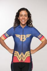 Camisa -Mulher Maravilha-Manga Curta - Camisa de Ciclismo