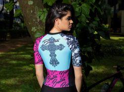 Camisa - Caveira Tradicional -Manga Curta - Camisa de Ciclismo